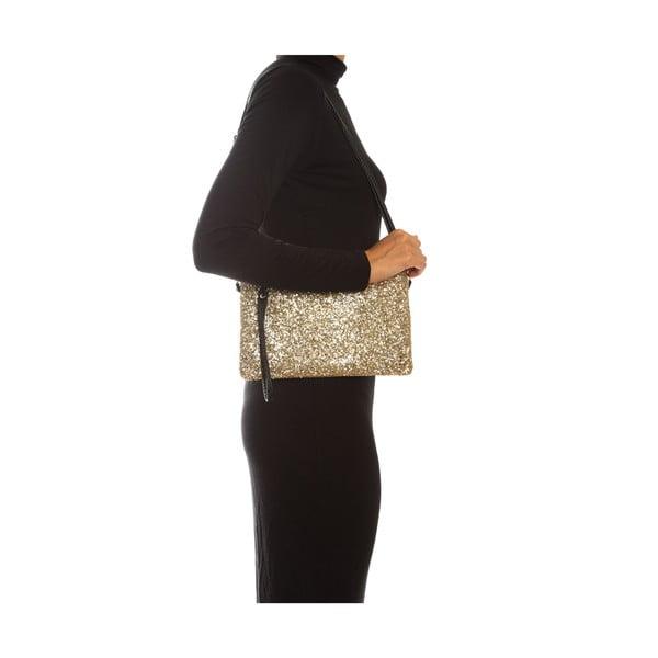 Zlatá kožená kabelka Sofia Cardoni Luciana