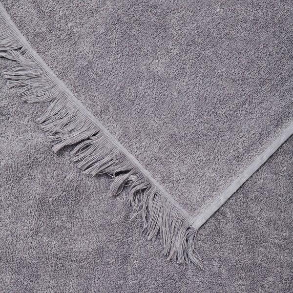 Set 2 sivých bavlnených uterákov a 2 osušiek Casa Di Bassi Bath