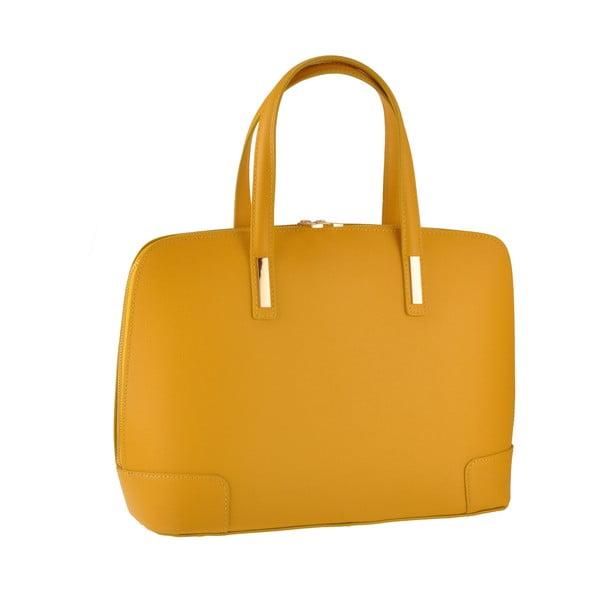 Kožená kabelka Rena, žltá