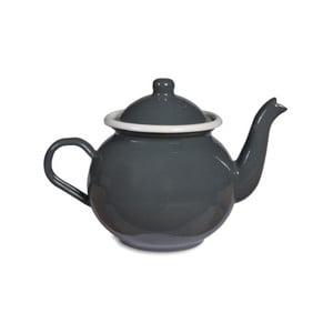 Sivá smaltovaná kanvica na čaj Garden Trading Tea, 1 l