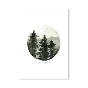 Plagát Brown Mountain, 30x42 cm
