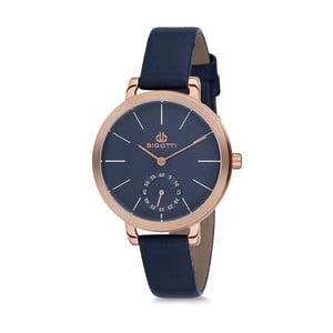 Dámske hodinky s modrým koženým remienkom Bigotti Milano Kate