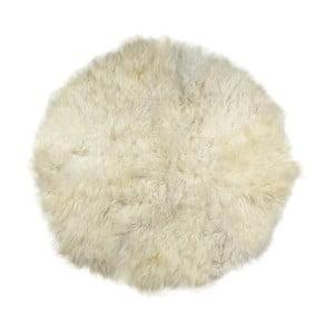 Biely kožušinový koberec Rundo, ⌀ 150 cm