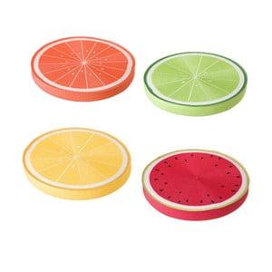 Sada 4 farebných vankúšov Unimasa, ⌀38 cm