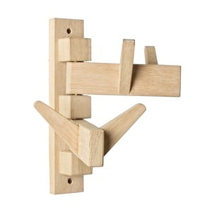 Nástenný vešiak z dubového dreva so 4 háčikmi Bizzotto Daiki