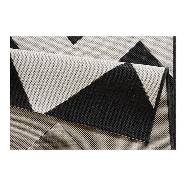 Čierno-biely koberec vhodný aj do exteriéru Unique, 160×230cm