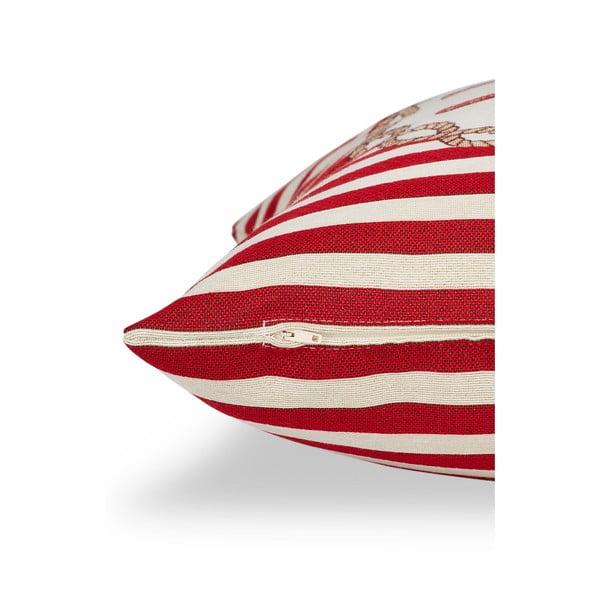 Obliečka na vankúš Maritim Framed Red, 45x45cm