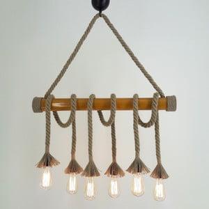Stropné svietidlo so 6 žiarovkami Bambu
