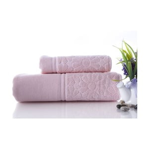 Set uteráka a osušky Samba Pink, 70x140 a 50x90 cm