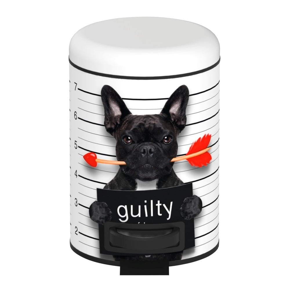 Pedálový odpadkový kôš Wenko Guilty Dog, 3 l