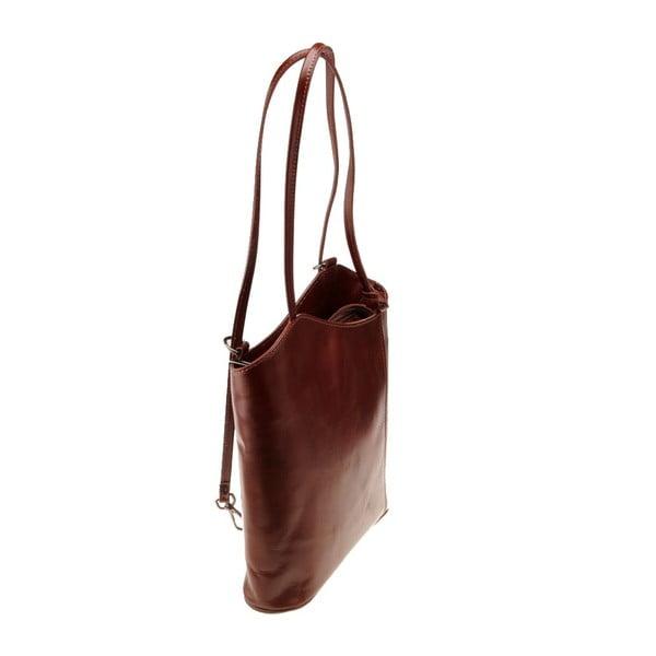 Kožená kabelka Pino, tm. hnedá