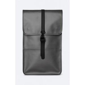 Batoh v sivej metalickej farbe s vysokou vodoodolnosťou Rains Backpack
