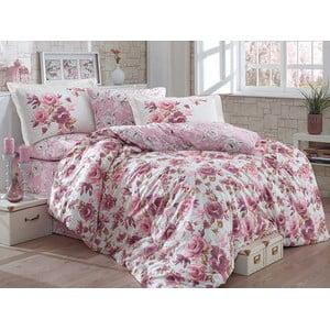 Bavlnené obliečky s plachtou Alessia Dusty Rose, 200x220cm