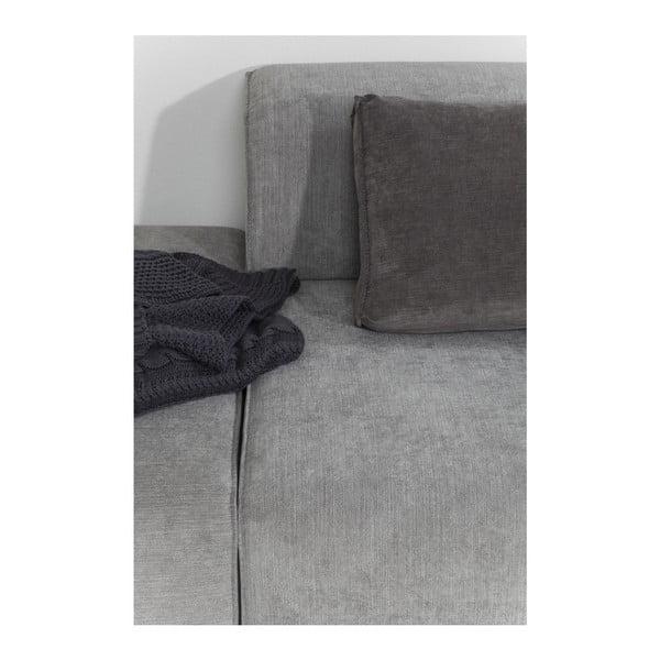 Tmavosivá pohovka s podnožkou Kare Design Infinity