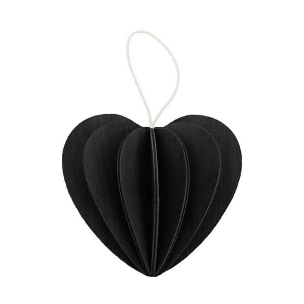 Skladacia pohľadnica Heart Black, 4.5 cm
