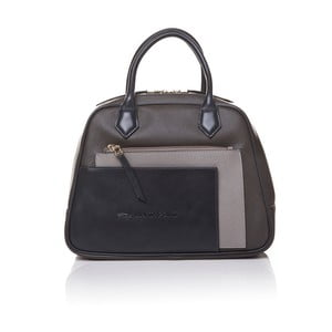 Kožená kabelka do ruky Marta Ponti Handy, sivá/béžová
