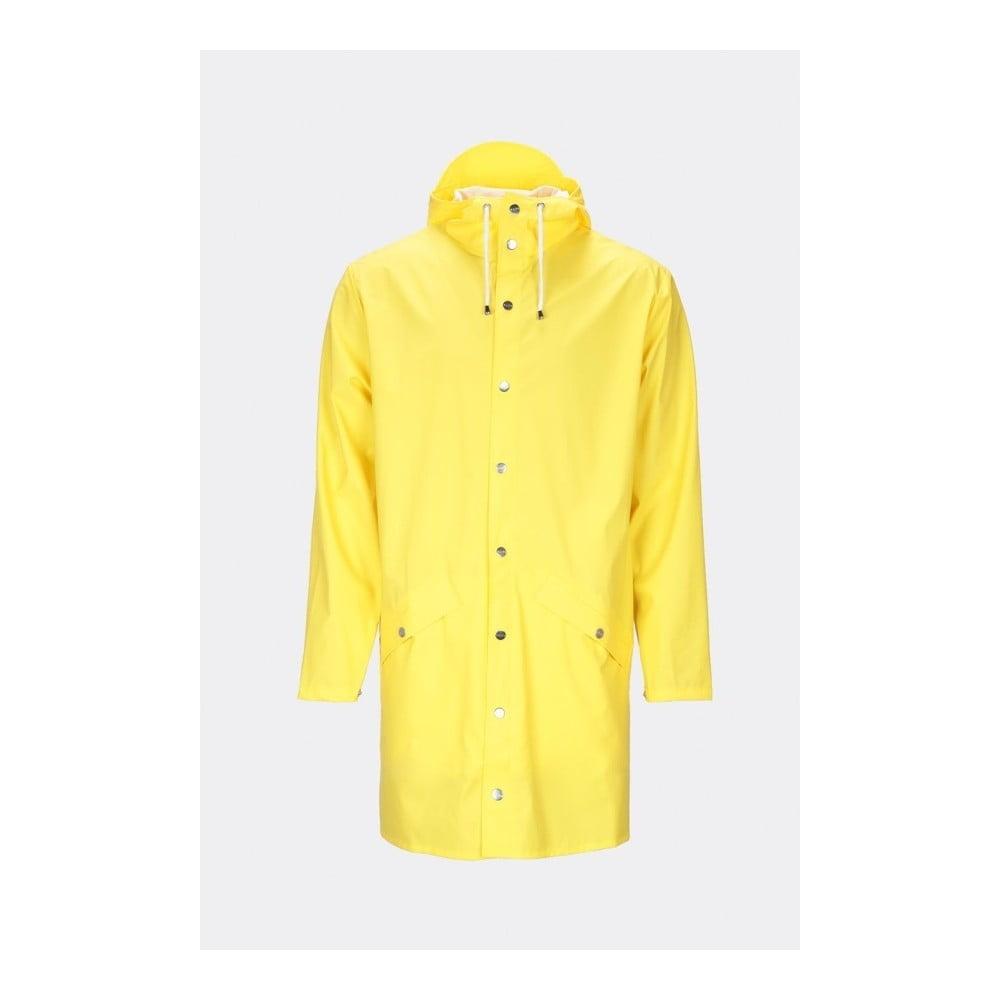 Žltá unisex bunda s vysokou vodoodolnosťou Rains Long Jacket, veľkosť XS/S