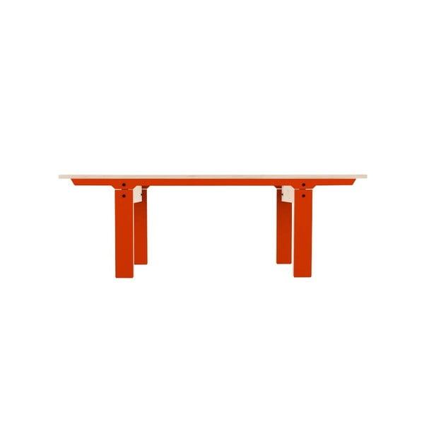 Oranžová lavica na sedenie rform Slim 04, dĺžka 133 cm