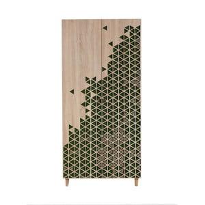 Dvojdverová šatníková skriňa Stil Geometry Green, 90×192 cm