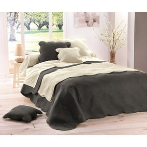 Prikrývka na posteľ Boutis Uni Anthracite, 220x240 cm