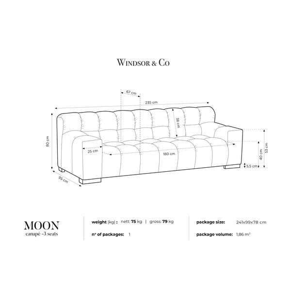 Béžová trojmiestna pohovka Windsor & Co Sofas Moon