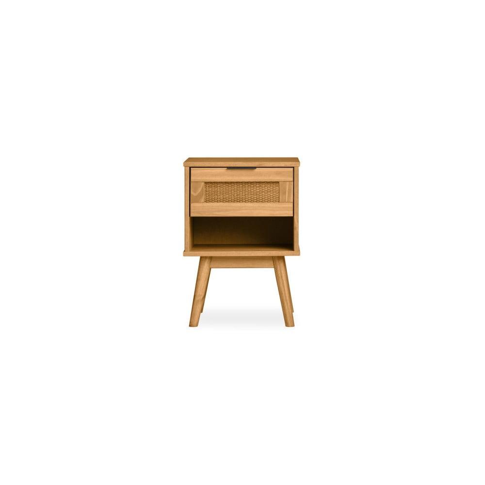 Hnedý nočný stolík z borovicového dreva Marckeric Asmara