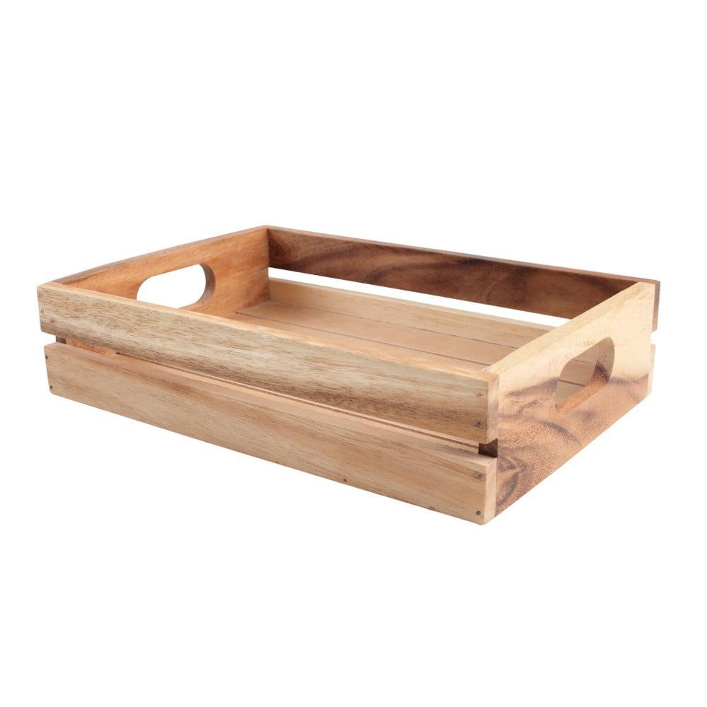 Stredná drevená agátová prepravka T&G Woodware Baroque Plain