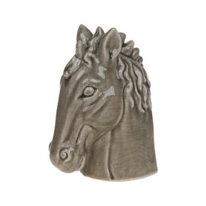 Dekorácia Dijk Natural Collections Horse Head Olive, 19,5  cm