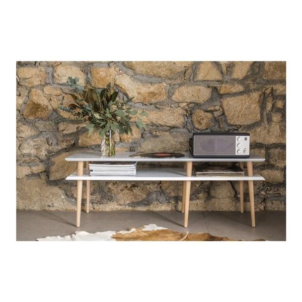 Biely konferenčný stolík Ragaba Mugo,dĺžka119 cm
