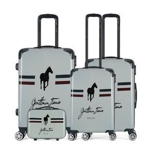 Sada 4 béžových cestovných kufrov na kolieskach GENTLEMAN FARMER Integre & Vanity Malo