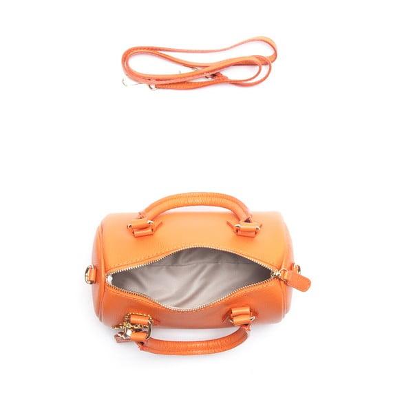 Kožená kabelka Renata Corsi 1161, oranžová