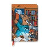 Linkovaný zápisník s tvrdou väzbou Paperblanks Moonlight Stories, 12 x 17 cm