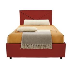 b17a70c9d88b4 Tmavočervená jednolôžková posteľ s úložným priestorom 13Casa Mina, 95 x 205  cm