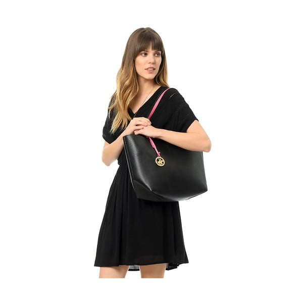 Kabelka Beverly Hills Polo Club 09 - Black/Fuchsia