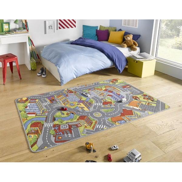 Detský koberec so sivými detailmi Hanse Home City, 160×240 cm
