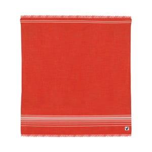 Červená osuška Origama Flat Seat, 200x200cm