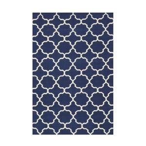 Ručne tkaný koberec Maria Blue/White, 60x90 cm