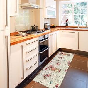Vysokoodolný kuchynský behúň Webtappeti French Garden, 60×140cm