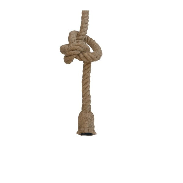 Hnedé závesné svietidlo SULION Rope