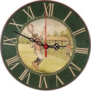 Nástenné hodiny Vintage Tennis, 30 cm