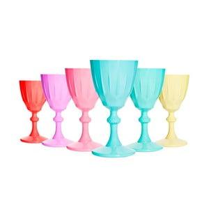 Sada 6 matných farebných pohárov Orkide