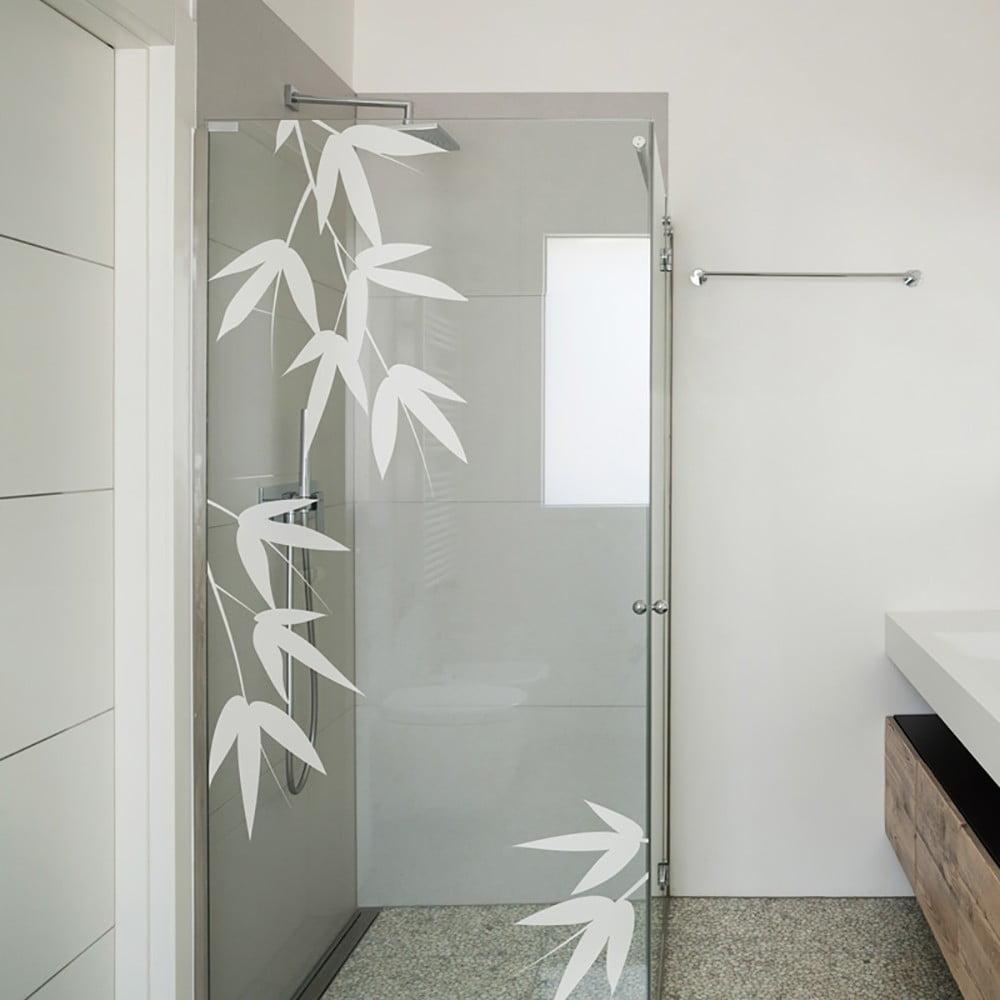 Samolepka na dvere do sprchy Ambiance Bamboo Leaves
