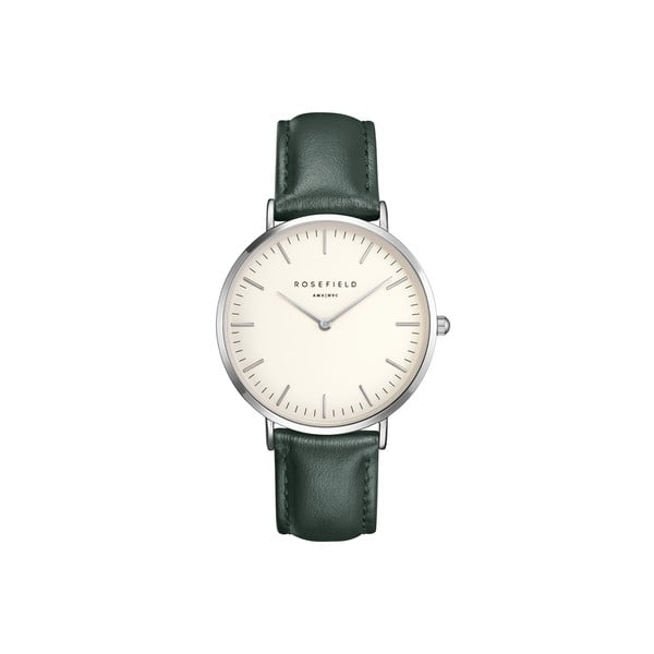 Strieborno-zelené dámske hodinky Rosefield The Bowery