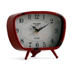 Červené stolové hodiny Geese Old