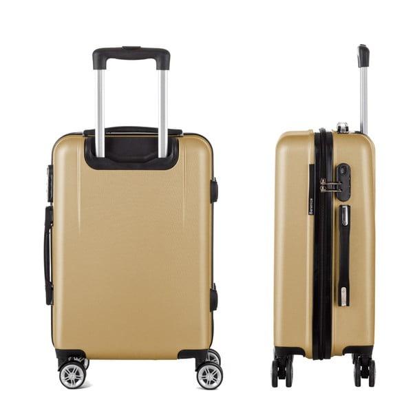 Cestovný kufor v zlatej farbe Berenice Wings, 44 l