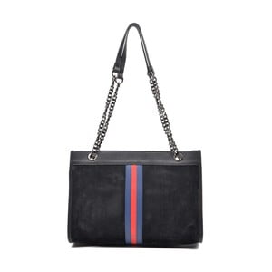 Čierna kožená kabelka Mangotti Larissa