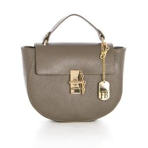 Sivo-béžová kožená kabelka Federica Bassi Virgin