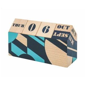 Stolový drevený otáčací kalendár Portico Designs Geometrico