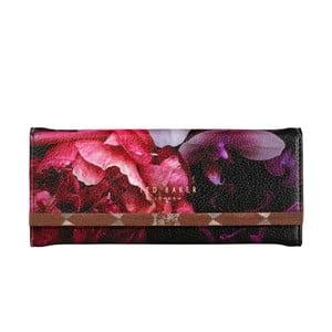 Čierny obal na okuliare s detailom v ružovozlatej farbe Ted Baker Splendour