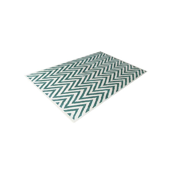 Vlnený koberec Ziggy Turquoise, 153x244 cm